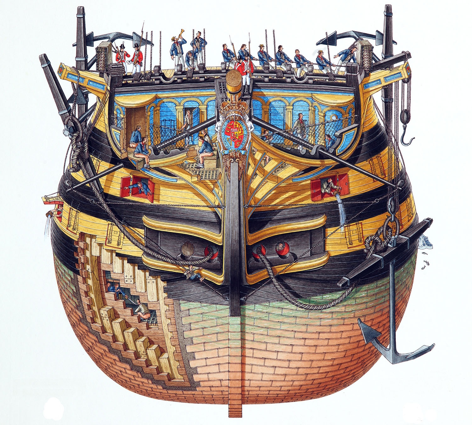 Anatomy of a ship - A look inside HMS Victory as Lord Nelson\'s 250 ...