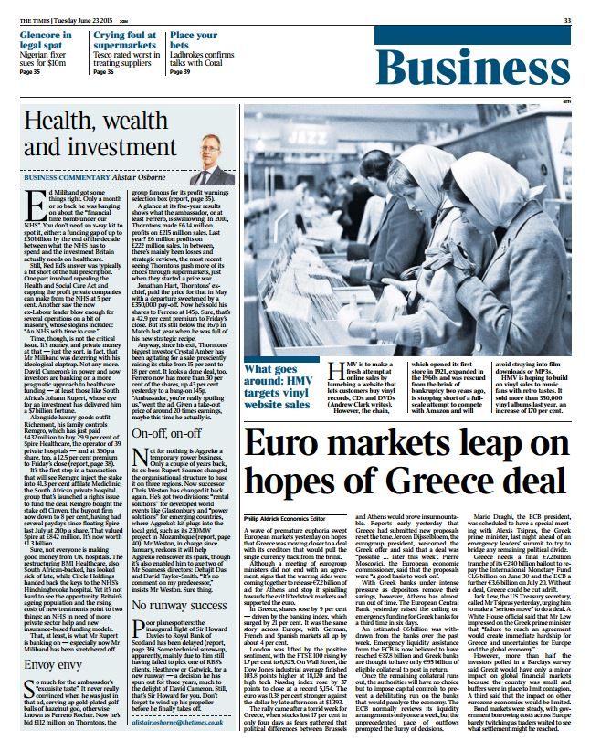 The Times Business - Need to Know AM
